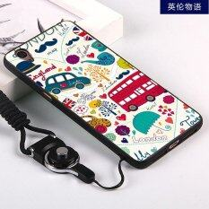 ... Silica Gel Soft Phone Case for OPPO A37 with a Rope Multicolor