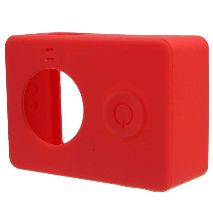 Silicone Protective Case Cover Skin For Xiaomi Yi Sjcam Gopro Hd3+4Camera (Red)