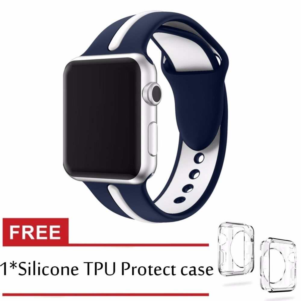 Best Rated Silicone Sport Band For Iwatch Band Series 3 2 1 42Mm Ultraman Strap Sport Buckle Band Intl