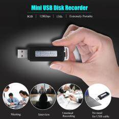 Sk-868 8gb Portable Usb Disk Flash Drive Digital Audio 15h Voice Recorder Black By Tomtop.