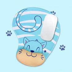 Skid Resistance Memory Foam Comfort Wrist Rest Support Mouse Pad Blue Cat Malaysia