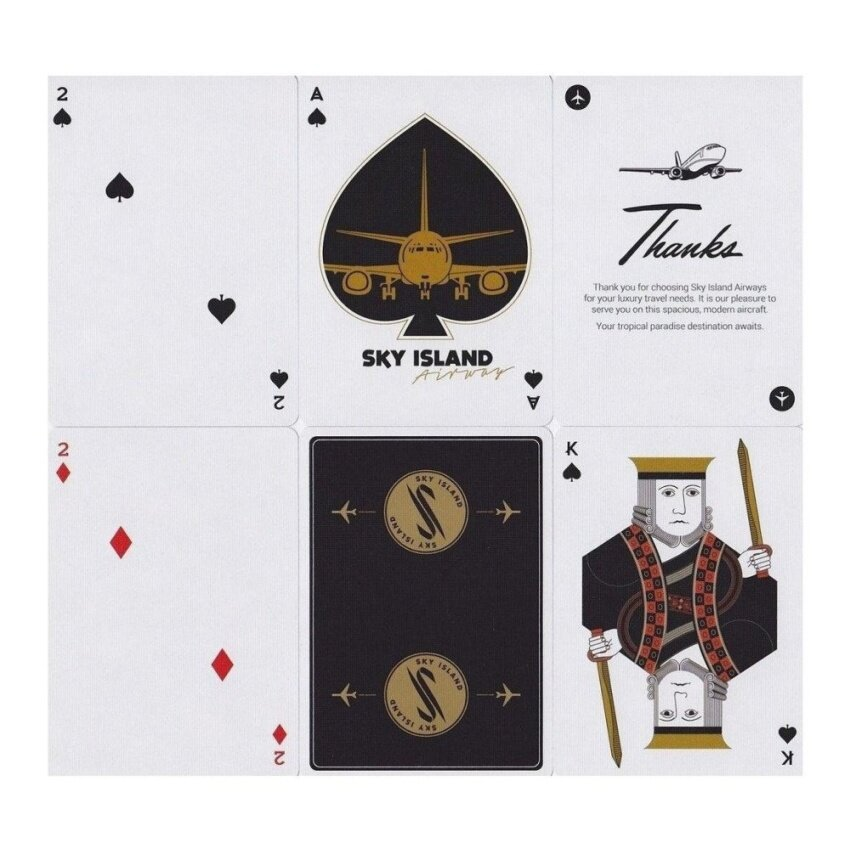 Sky Island Black Limited Edition Playing Cards - intl