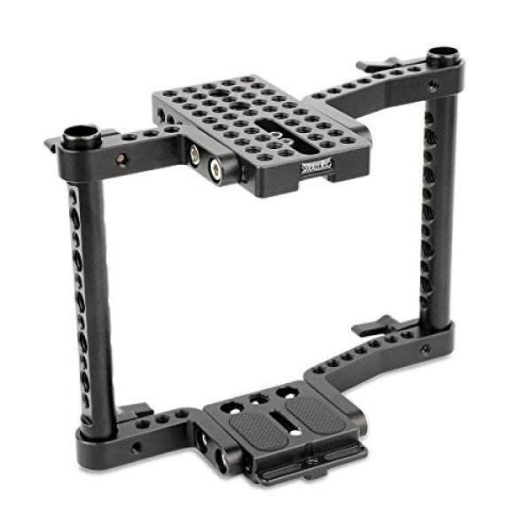 SmallRig Cage for Dslr Camera Panasonic GH5/GH4/GH3, Canon EOS 5D Mark III/80D/70D/6D/7D, Nikon D7200/D7000/D7100, Sony A7II/A7SII, Fujifilm X-T2, Sony A99 - 1584 - intl