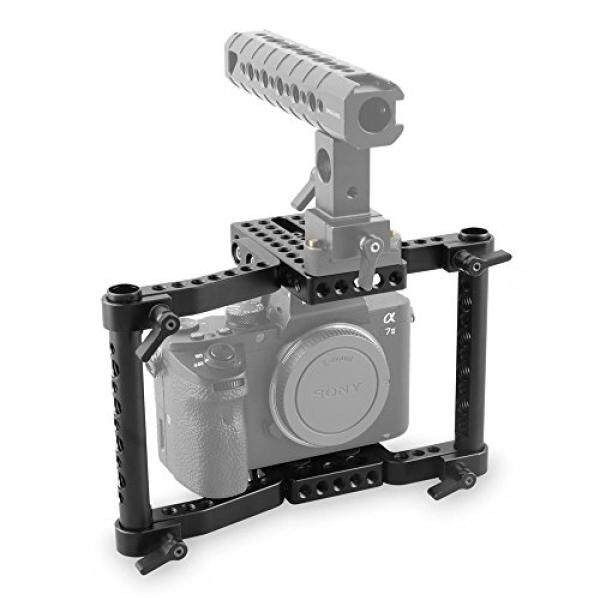 SmallRig Camera Cage Video Camera Cage for DSLRs/SLR Panasonic GH5/GH4/GH3, Canon EOS 5D Mark III/80D/70D/6D/7D, Nikon D7200/D7000/D7100, Sony A7II/A7SII, Fujifilm X-T2 - intl