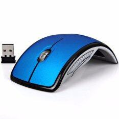 Smart 2.4Ghz Ultra-slim 1600DPI Foldable Wireless Arc Optical Mouse with Mini USB Receiver for PC Laptop Computer Notebook Pad Tablet SM0004 (Blue) Malaysia