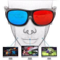 Smart Hi-Shock Red Blue Visoin 3d Glasses For Dimensional Anaglyph Tv Dvd Tablet Video Movie Game Sm0001(black) By Echosns Store.