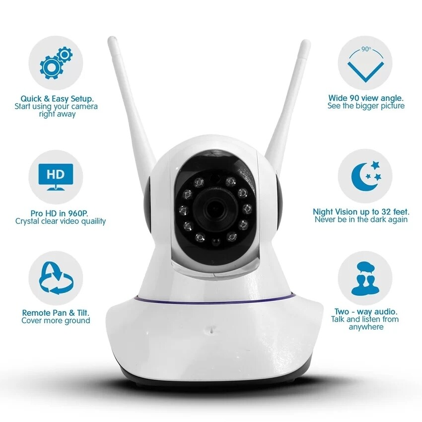 OurGoal Smart Home mini Security Camera 433MHZ connect to alarm sensor  support SD card Onvif 720P HD infrared APP control CCTV Camera