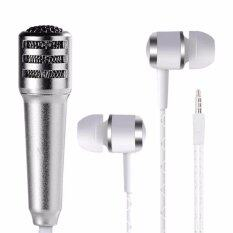 Smart New Fashion Portable 3.5mm Audio Plug 2 In 1 Wired Microphone Stereo Handheld Mic For Ios Android Chatting/singing/karaoke/computer/ipad/smart Phone/tablet Sm0037 (silver) By Smart Mate.