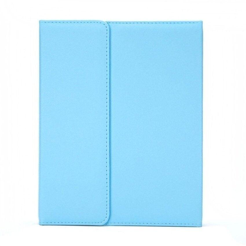 Pintar Penyangga Kulit Case Sarung Withbluetoothkeyboardforapple iPad 2/3/4 5 6. Biru (Luar Negeri)-Internasional