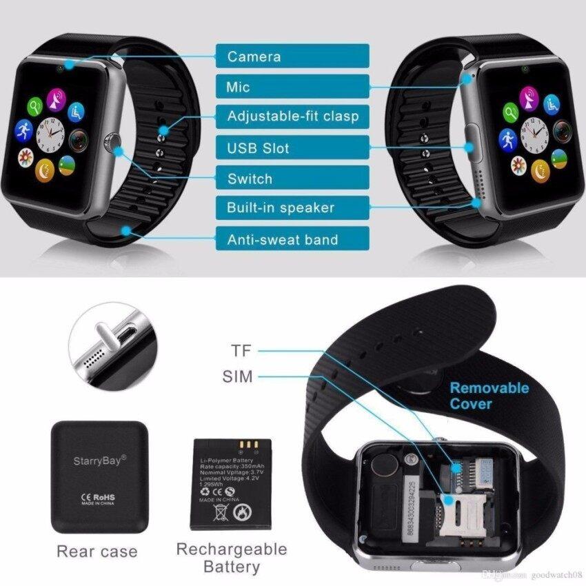 dc3d1dbcd484dd Promosi Panas! G & T iWatch GT08 2.0M Digital Bluetooth Smart Watch ...