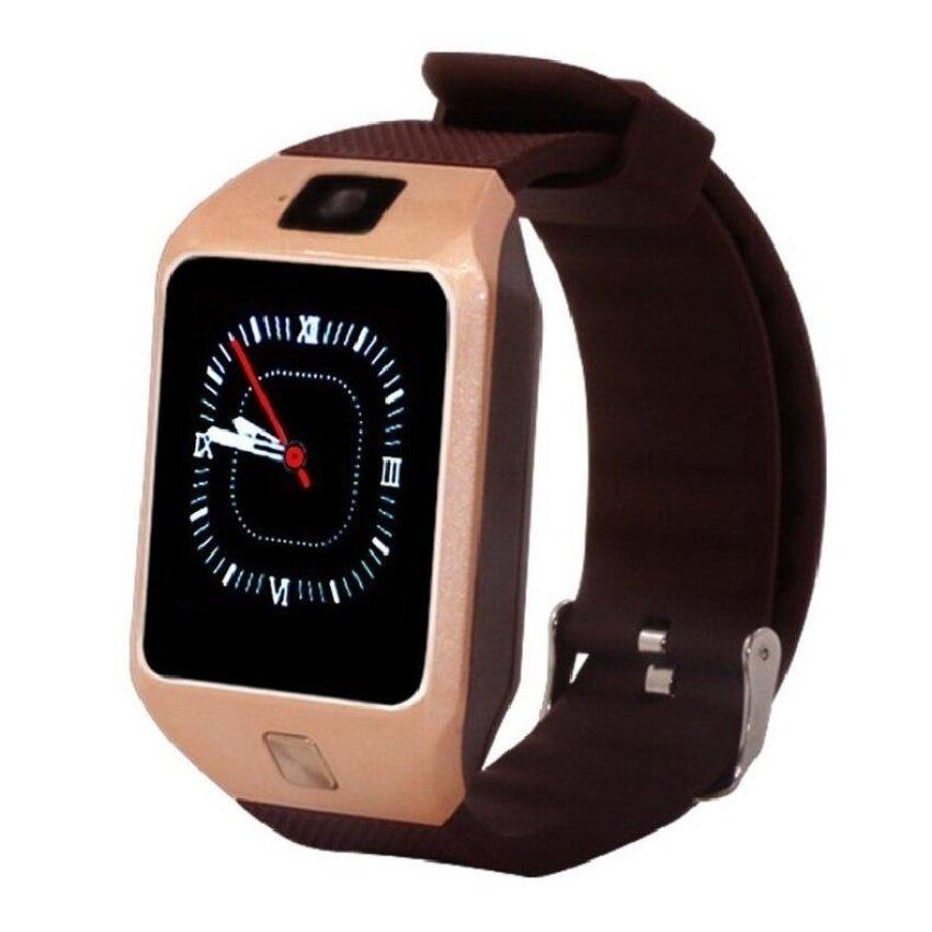 Pintar Jam Tangan Ponsel DZ09S Mendukung Kartu SIM Olahraga dan Healthyremindforios dan Ponsel Android Update DZ09 (Emas) -Internasional