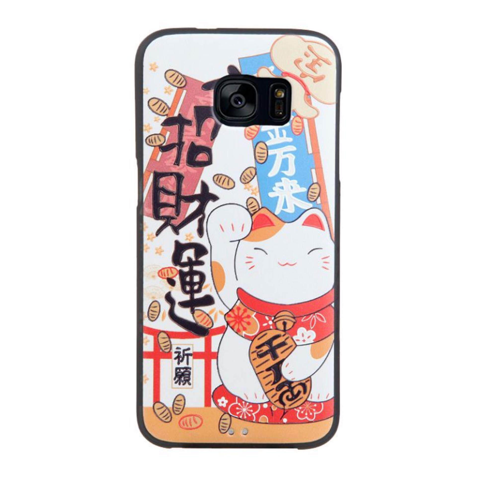 Soft TPU 3D Embossed Painting Cover Case For Samsung Galaxy S7 Edge(Lucky Cat)