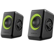 Sonic Gear Quatro 2 Speaker - Lime Green - AUX, USB Powered ( 6W ) Malaysia