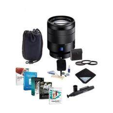 Sony 24-70mm f/4 Vario-Tessar T FE ZA OSS, FF, E-Mount NEX Camera Lens Bundle w/Filters & Software