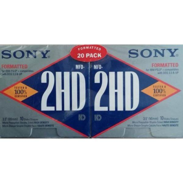 Sony 3.5 MFD-2HD Diformat Documents, 20 Pack-Intl
