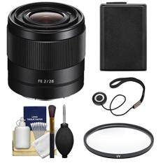 Sony Alpha E-Mount FE 28mm f/2 Lens with Filter + + Accessory Kit for A7, A7R, A7S Mark II Cameras