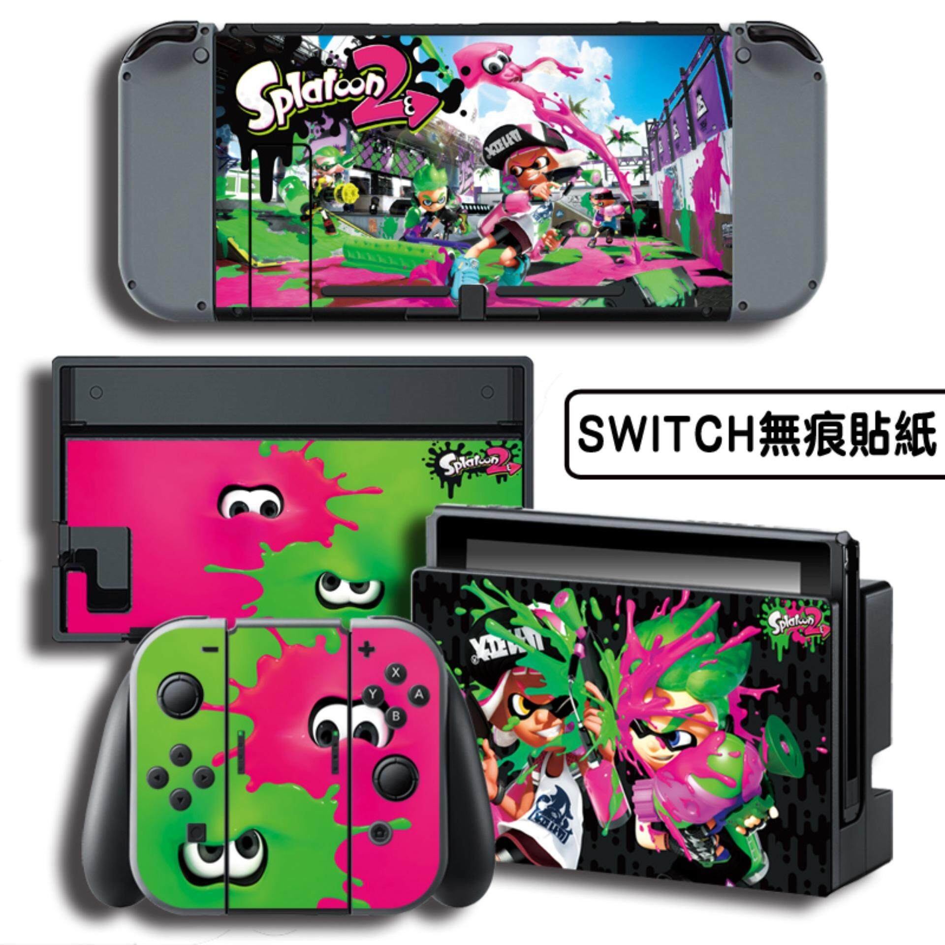 Nintendo Switch Stickers Splatoon Price In Singapore Quick Pouch Splatoon2 Vinyl Skin Sticker Decal Cover For Console Controller Joy Con Intl