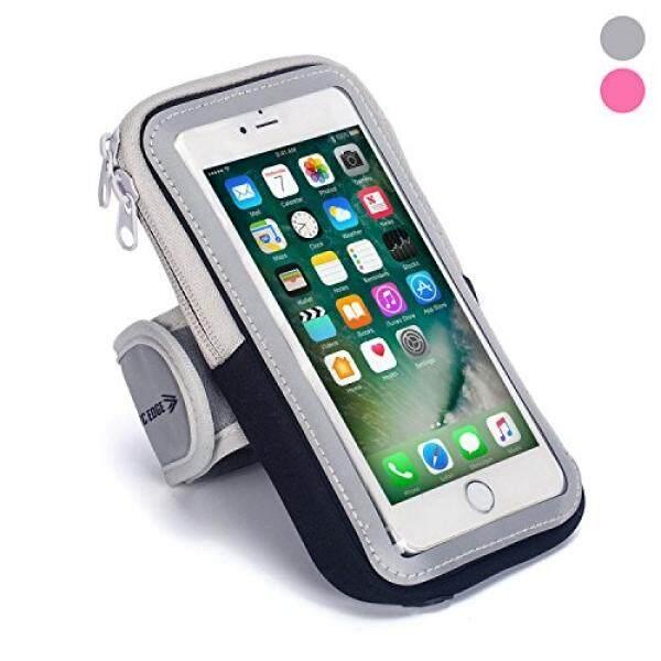 Ikat Lengan Olahraga: sel Tempat Ponsel Case Tali Jam Tangan dengan Kantung Ritsleting/Olahraga Lari Latihan untuk Apple Iphone 6 7 8 IPod Touch android Samsung Galaxy S5 S6 S7 S8 Edge Htc Lg Pixel (Hitam) -Intl