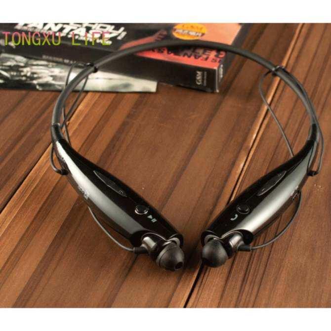 Olahraga Bluetooth 4.1 Bebas Genggam Juga Tahan Air Nirkabel Tali Leher Stereo Headset Headphone untuk Sel