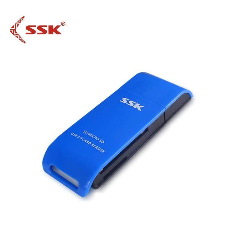 SSK Original 331 Mini High Spe ed USB3.0 Card Reader 2 In 1 TF Card For SD Card Reader Adapter - intl
