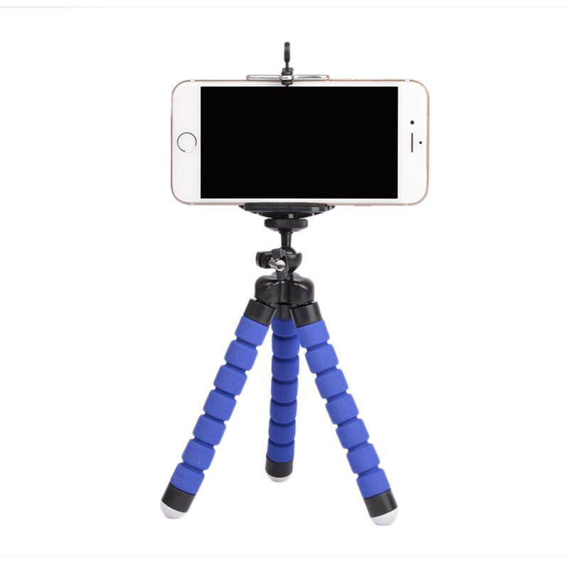 Fleksibel Portable Adjustable Tripod Mini Universal Gurita Kaki Gaya Swafoto Bluetooth Stick Tanpa Bluetooth Pengendali Jarak