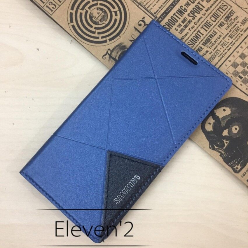 Sale Sunking Full Cover Pu Leather Flip Case For Samsung Galay J7 Pro Blue Intl Oem Cheap