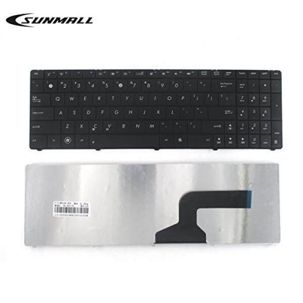 Sunmall Keyboard Penggantian Tanpa Bingkai untuk Asus N53 K54l X55 X55U X55A X54C X54H X55VD X55C R500 F55 F75 Seri LAPTOP Hitam AS Layout (Garansi 6 Bulan) -Internasional