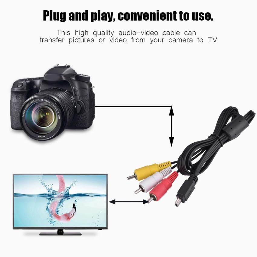 Selatan Naik Sweatbuy Video Audio AV USB MINI Kabel untuk 3 RCA untuk Kamera Kanon IXUS 990 980 970 870 200 -Intl