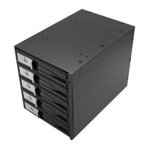 SYBA SY-MRA35031 5 Bay Tray Kurang SATA SAS 3.5 HDD Lampiran Internal Kandang Hitam-Intl