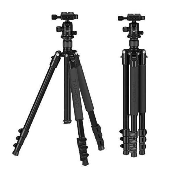 Tairoad Q555 Camera Tripod - Aluminum Lightweight Travel Tripod 62.5 inch with Flip Leg Lock and 360 Degree Ball Head - Stable to Support Canon EOS Nikon Sony Camera DSLR - Black - intl
