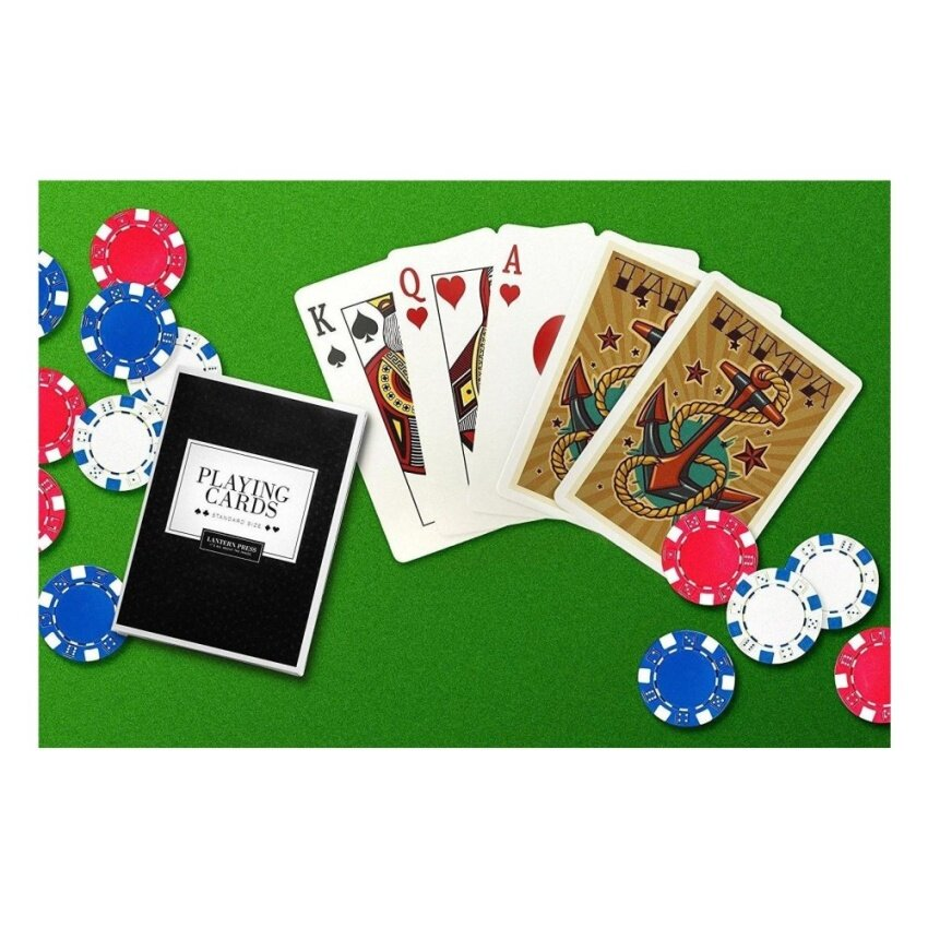Tampa. Florida - Anchor - Letterpress (Playing Card Deck - 52 CardPoker Size with Jokers) - intl