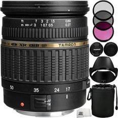 Tamron Zoom Super Wide Angle SP AF 17-50mm f/2.8 XR Di II LD Aspherical [IF] AF Lens for Nikon Digital Cameras 8PC Accessory Kit. Includes Manufacturer Accessories + 3PC Filter Kit (UV+CPL+FLD) + MORE