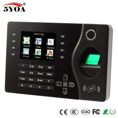 TCP IP Biometric Fingerprint Time Attendance Clock Recorder Employee Digital Electronic English Reader Machine USB RFID ID Card Malaysia