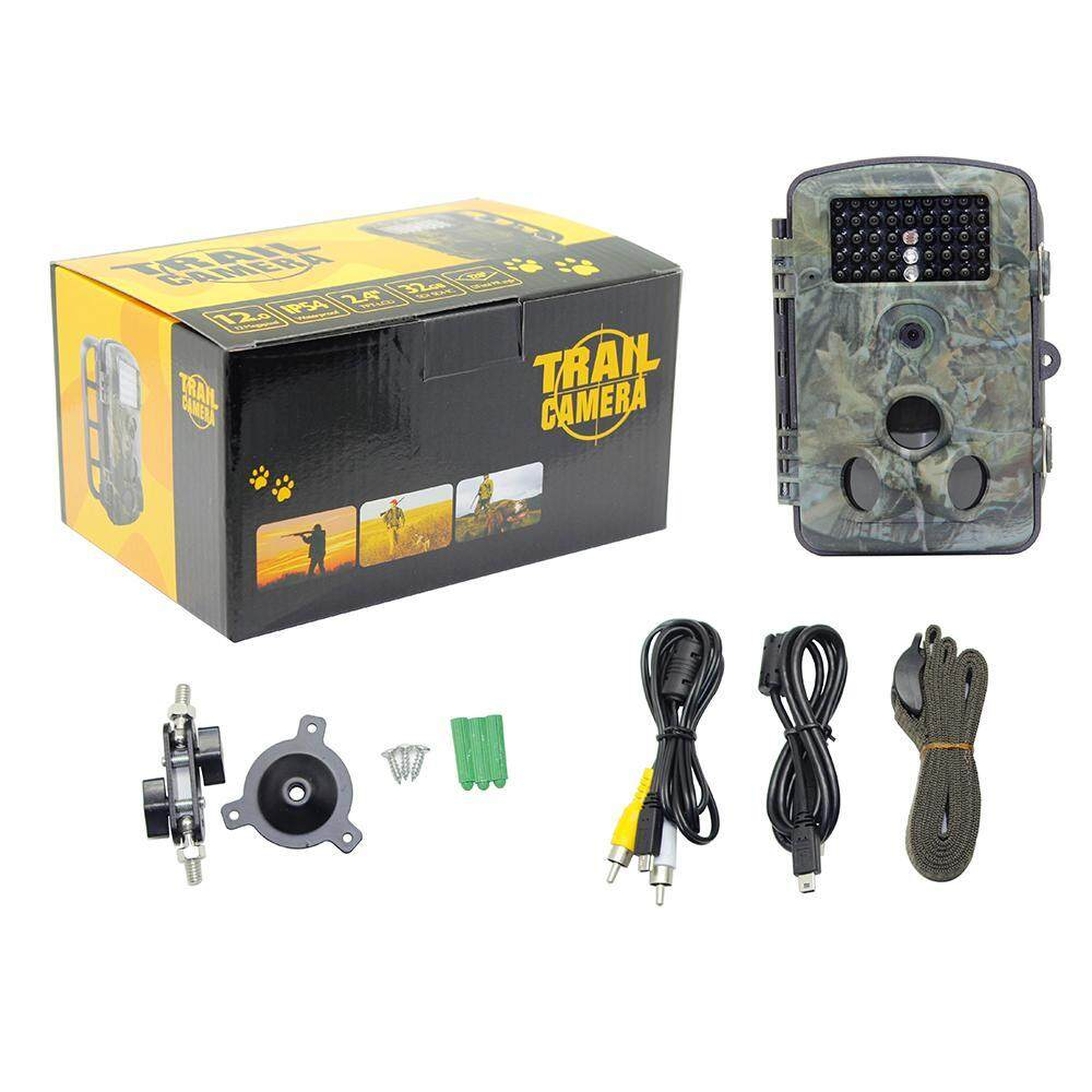 "Teekeer Game And Trail Hunting Camera 12MP 1080P HD With Time Lapse 65ft 120 Wide Angle Infrared Night Vision 42pcs IR LEDs 2.4"" LCD Screen Scouting Camera Digital Surveillance Camera - intl"