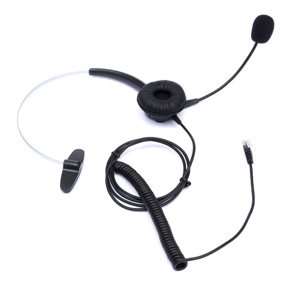 Telephone Headset Noise Cancelling Microphone RJ11 Headset For Desk Phones Malaysia