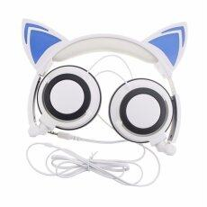 The High Quality TTLIFE The Fashion Foldable Flashing Glowing cat ear headphones Gaming Headset Earphone with