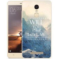 Thin Silicone TPU Cartoon Mountain Landscape Transparent Soft Phone Cover Case For Xiaomi