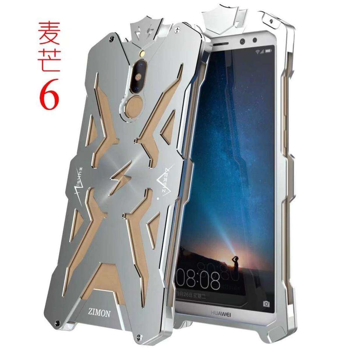 Thor Series Aviation Aluminum Metal Ironman Cover Case for Huawei Mate 10 Lite / Nova 2i