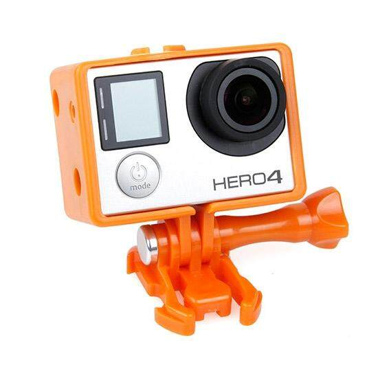 TMC Bacpac Frame Mount Housing Case untuk GoPro HERO4/3 +/3 (Orange)-Intl