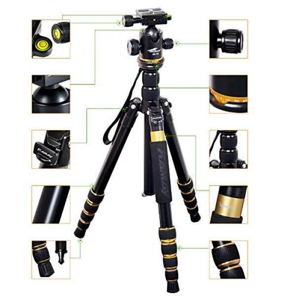 Tnp Kamay K-888 Kamera DSLR Profesional Tripod Monopod dengan Bola Kepala Kompak Portabel Perjalanan Magnesium Aluminium Paduan Tripod untuk Canon nikon Sony Pentax DSLR Kamera Digital-Internasional