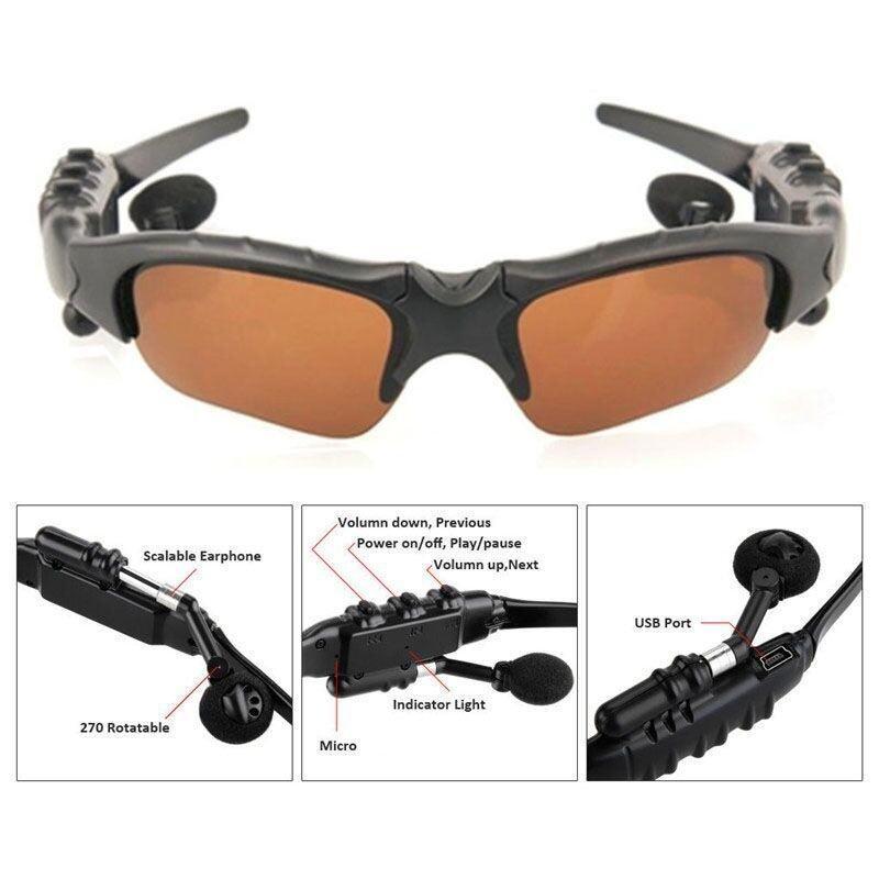 Tomsoo 1 ชิ้นบลูทูธแว่นตากันแดดเพลงหูฟังบลูทูธไร้มือจับหูฟัง?? สีน้ำตาล) High - Calibre - Intl.