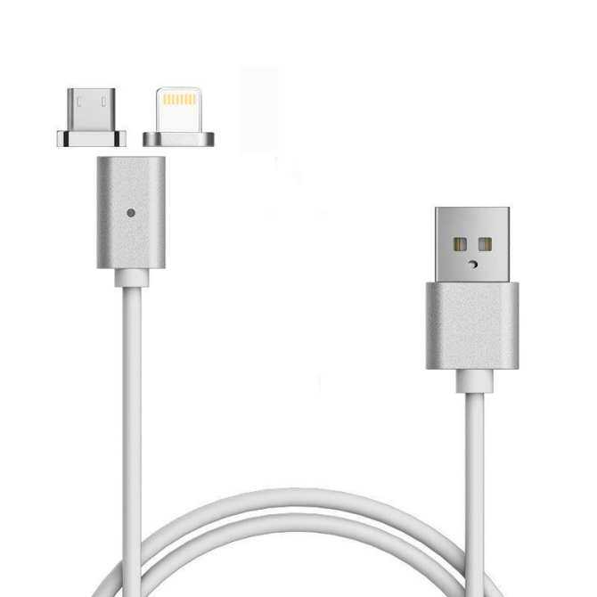 TOMSOO 1pcs Magnetic Lightning Charging USB Charger 2pcs Cable Adapter for Iphone/Android phone -
