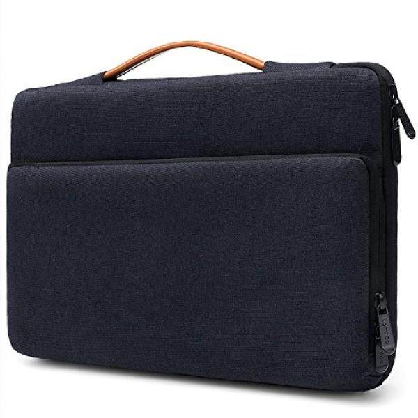 Tomtoc 360° Protective Laptop Sleeve Case Bag for 2017 New Surface Pro 5 / 4 / 3 Dell XPS 13 2018 11.6 Inch HP Acer ASUS Samsung Chromebook, Spill-Resistant Tablet Bag, Black Blue - intl