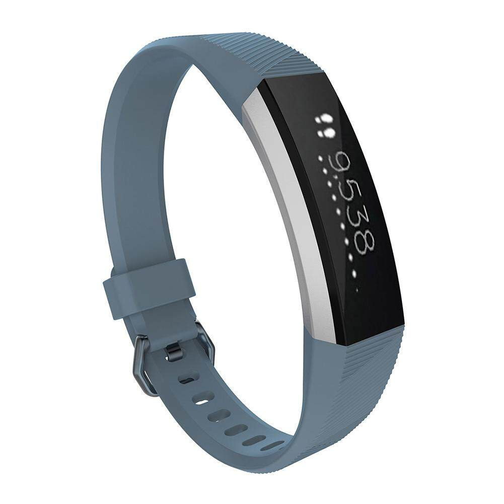 ราคาถูกที่สุด Tookie Soft Silicone Smart Wristband Strap Replacement Accessories For Fitbit Alta (Stone Blue) shock sale - มีเพียง ฿75.45