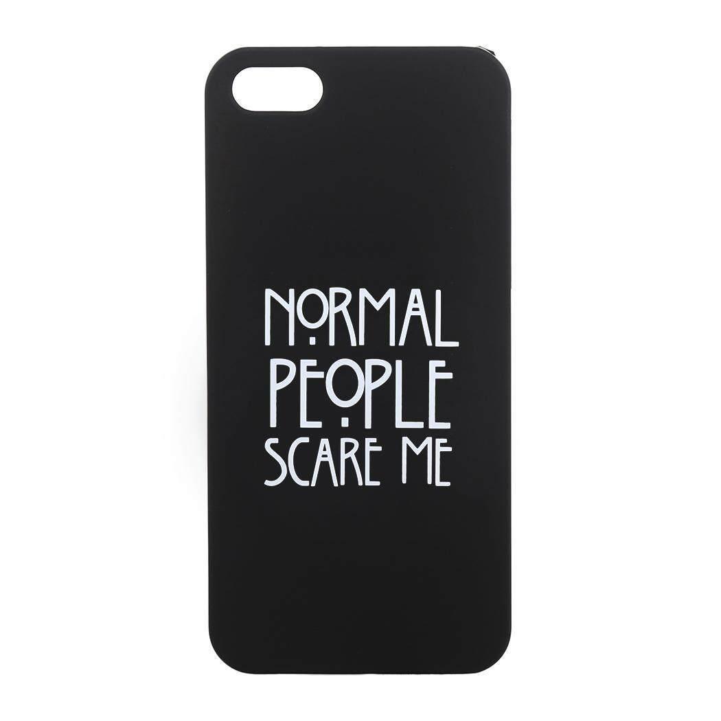 Toprank Creative Portabel Normal People Scare Me Cetak Keras Case Telepon Case untuk iPhone-Internasional