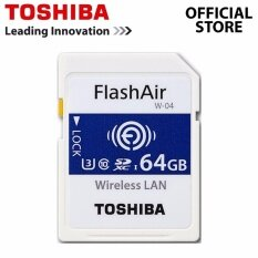 Toshiba Flashair Iv 64gb Wireless Wifi Sd Card Class 10 Memory Card W-04 U3 4k By Toshiba System Official Store.