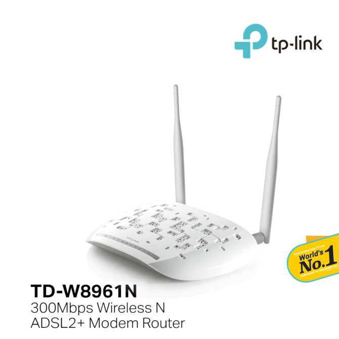 TP-LINK 300Mbps Wireless N ADSL2 + Modem Router - TD-W8961N (Streamyx Support)