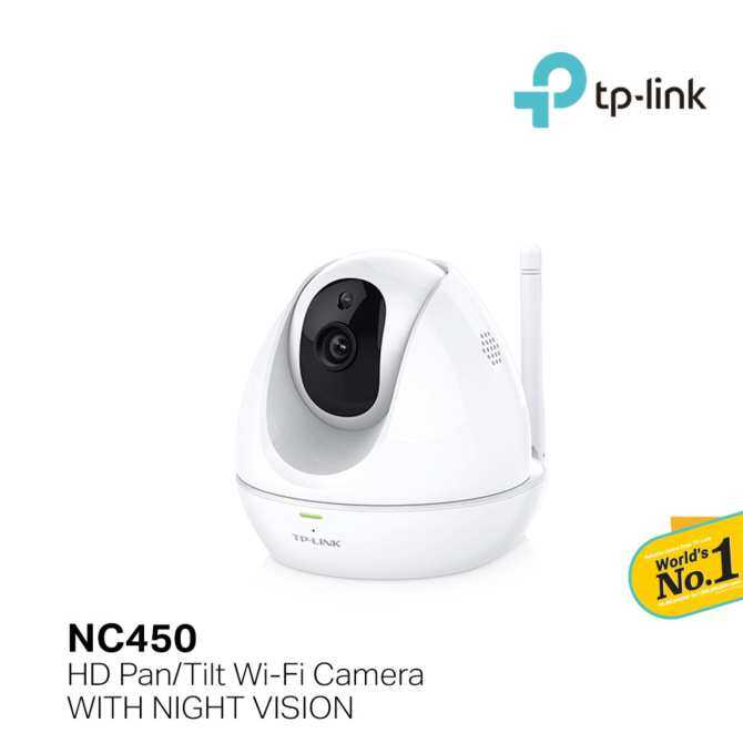 TP-LINK - HD Pan/Tilt Wi-Fi Camera with Night Vision, NC450