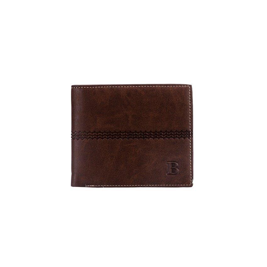 TP Ultra-Thin Mens Bifold Wallet Multi-Function CardHolderMoneyclip Deep Coffee - intl