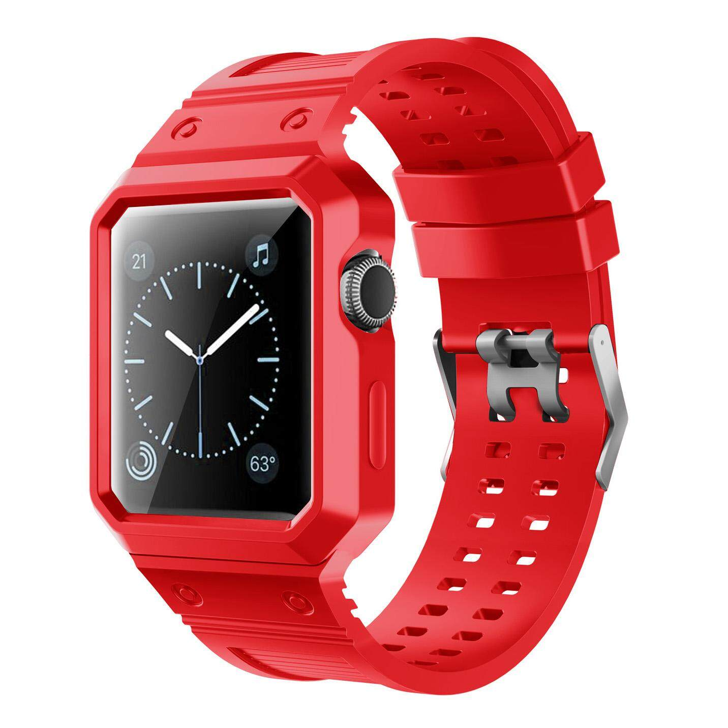 Where Can You Buy Tpu Silicone Watch Band Strap For Iwatch 42Mm With Tpu Silicone Full Protective Case Intl